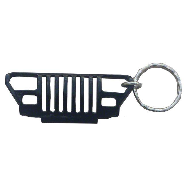YJ Grille Keychain - Black