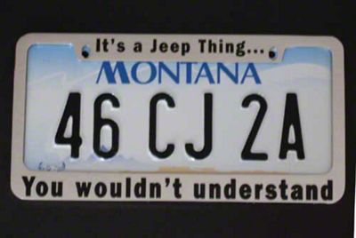 Its a Jeep Thing You Wouldnt Understand License Plate Frame