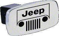 Jeep Grille Logo Hitch Cover (87-18 Jeep Wrangler YJ, TJ, JK & JL)