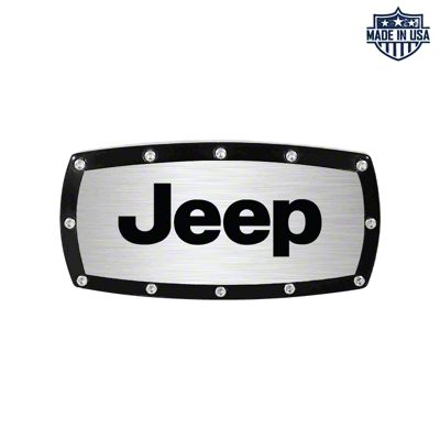 Jeep Logo Billet Hitch Cover (87-18 Jeep Wrangler YJ, TJ, JK & JL)