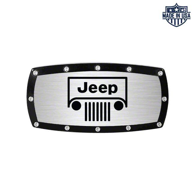 Jeep Grille Logo Billet Hitch Cover (87-19 Jeep Wrangler YJ, TJ, JK & JL)
