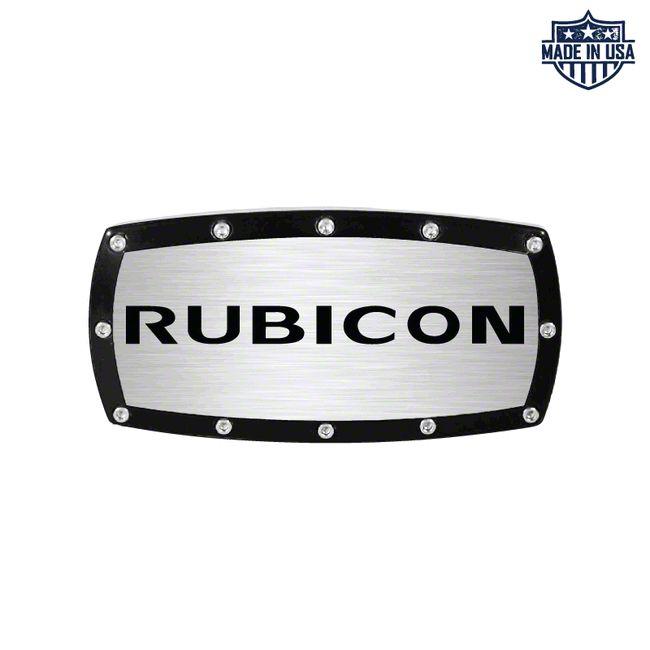 Rubicon Logo Billet Hitch Cover (87-18 Jeep Wrangler YJ, TJ, JK & JL)