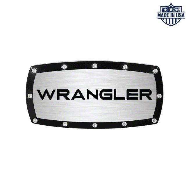 Wrangler Logo Billet Hitch Cover (87-19 Jeep Wrangler YJ, TJ, JK & JL)