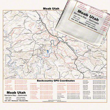 Off Road Map Bandana - Moab, UT