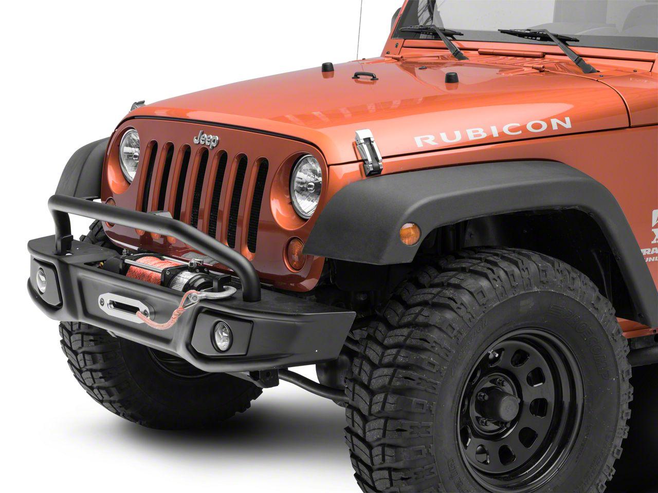 Barricade Cruiser HD Front Bumper w/ Over Rider & LED Fog Lights (07-18 Jeep Wrangler JK)