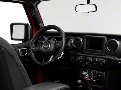 Alterum Jeep Logo Speed Grip Steering Wheel Cover - Black (87-19 Jeep Wrangler YJ, TJ, JK & JL)