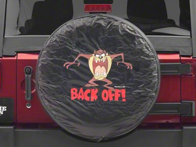 Alterum 26.5-31 in. Taz Back Off Spare Tire Cover - Black (87-18 Jeep Wrangler YJ, TJ, JK & JL)