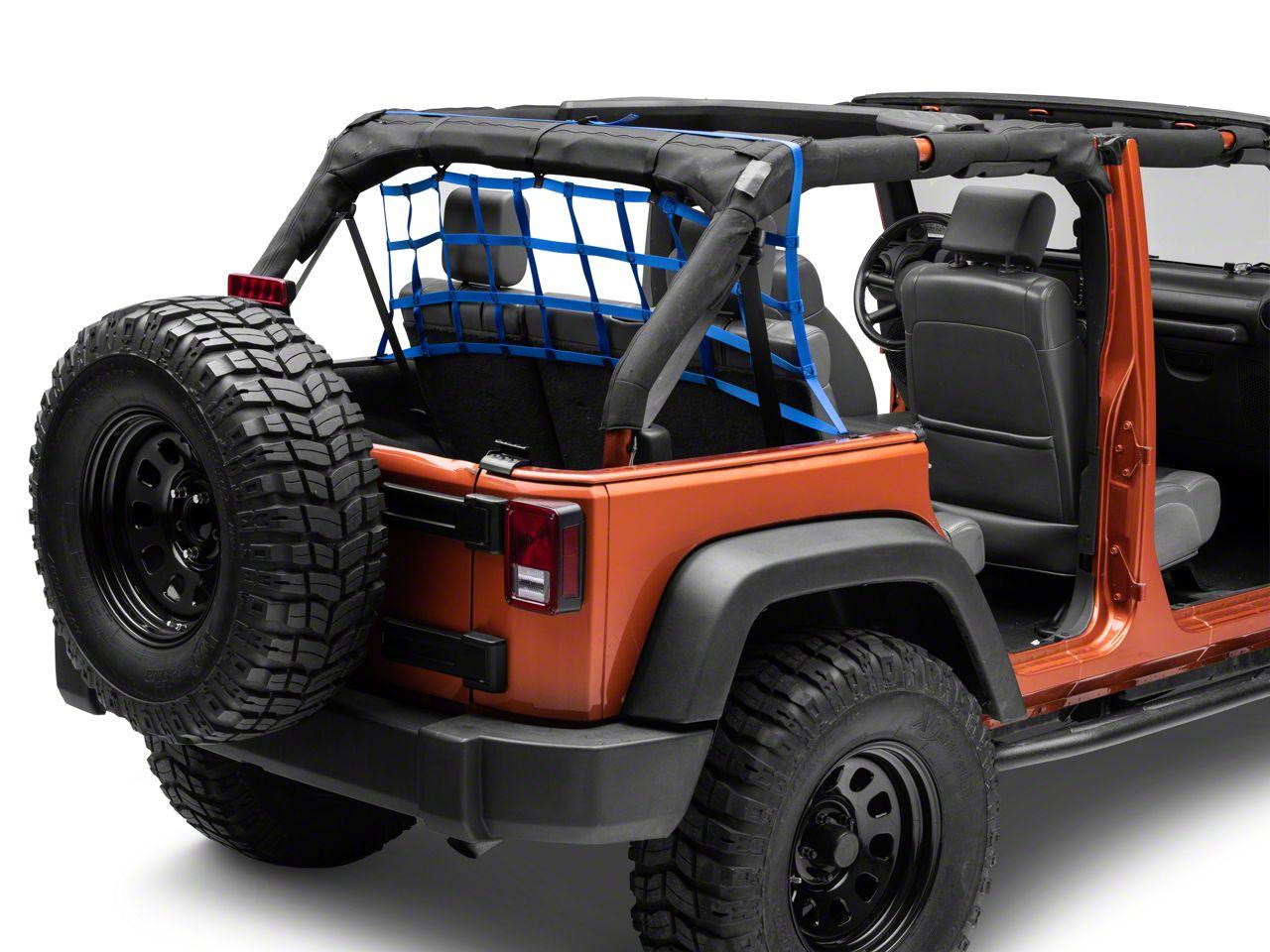 Aspen Rear Pet Barrier Net - Royal Blue (07-18 Jeep Wrangler JK 4 Door)