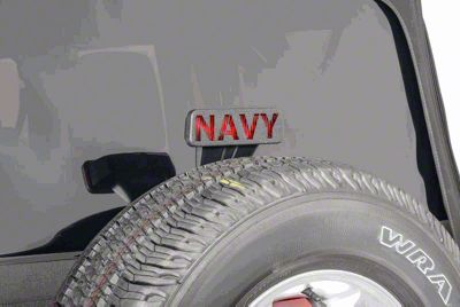 Jeep Tweaks Third Brake Light Guard - Navy (07-18 Jeep Wrangler JK)