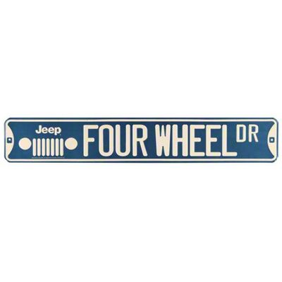 Jeep Wrangler Four Wheel DR Street Sign