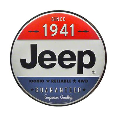 Jeep Since 1941 Tin Button Round Metal Sign