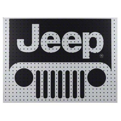 Jeep Wooden Peg Board - 32 x 24 in.