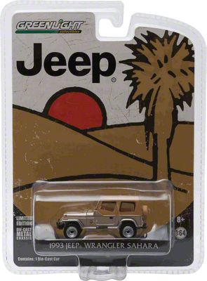 GreenLight Collectibles 1993 Jeep Wrangler YJ Sahara Diecast Model - 1:64 Scale