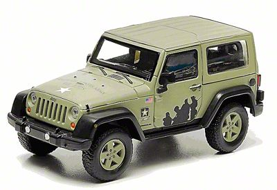 GreenLight Collectibles Jeep Wrangler JK U.S. Army Hard Top Diecast Model - 1:43 Scale