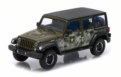 GreenLight Collectibles Jeep Wrangler JK U.S. Army Edition Diecast Model - 1:43 Scale
