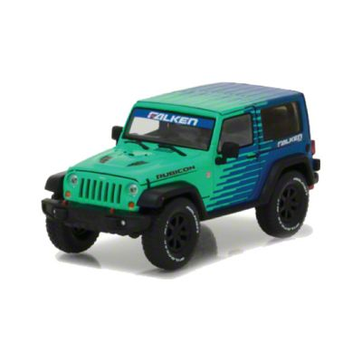 GreenLight Collectibles 2014 Jeep Wrangler JK Rubicon Falken Edition Diecast Model - 1:43 Scale