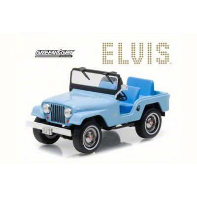 GreenLight Collectibles Jeep Wrangler Elvis Presley Sierra Blue Diecast Model - 1:43 Scale