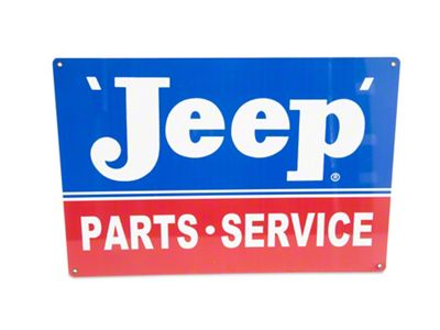 Jeep Parts & Service Metal Garage Sign