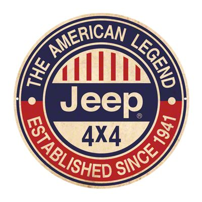 Jeep 4x4 American Legend Since 1941 Metal Sign