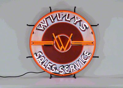 Willys Sales Service Jeep Neon Sign