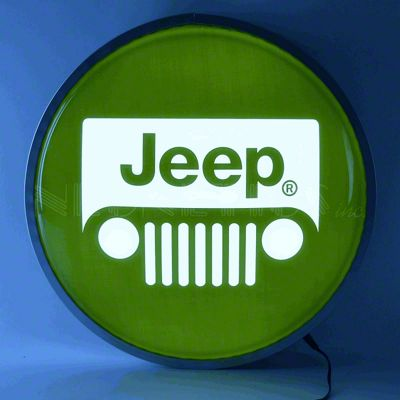Jeep Wrangler Grille Backlit LED Lighted Sign