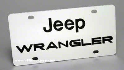 Jeep Wrangler License Plate - Stainless Steel