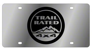Trail Rated 4x4 License Plate - Stainless Steel