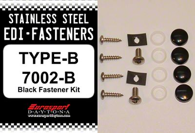Type B Stainless Steel EDI License Plate Fastener Kit