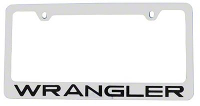 Wrangler License Plate Frame