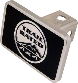 Aluminum Hitch Cover - Trail Rated 4x4 Logo