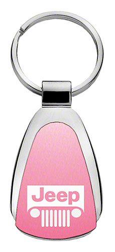 Jeep Grille Keychain & Keyring - Pink Teardrop