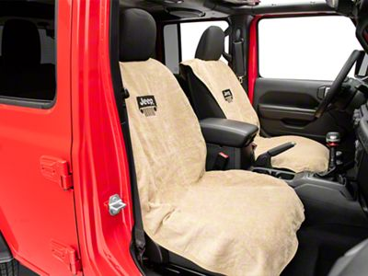 Seat Armour Jeep Wrangler Grille Seat Towel - Tan (87-19 Jeep Wrangler YJ, TJ, JK & JL)