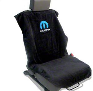Seat Armour MOPAR Logo Seat Towel (87-19 Jeep Wrangler YJ, TJ, JK & JL)