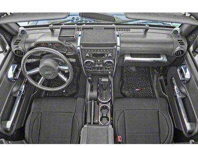 Rugged Ridge Interior Trim Accent Kit - Chrome (07-10 Jeep Wrangler JK 2 Door w/ Automatic Transmission & Power Windows)