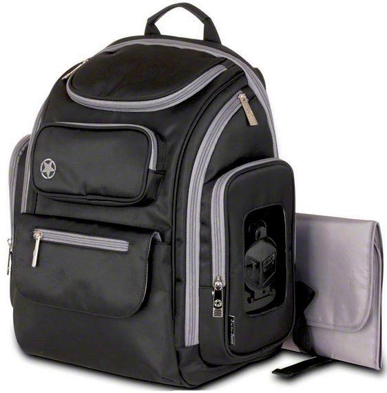 Backpack Diaper Bag - Black & Gray