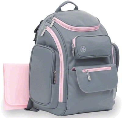 Jeep Places & Spaces Backpack Diaper Bag - Gray & Pink