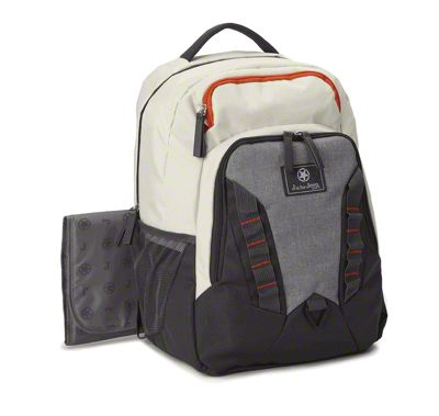 Backpack Diaper Bag - White & Gray