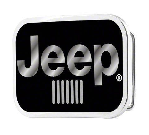 Jeep Logo Belt Buckle - Gloss Black