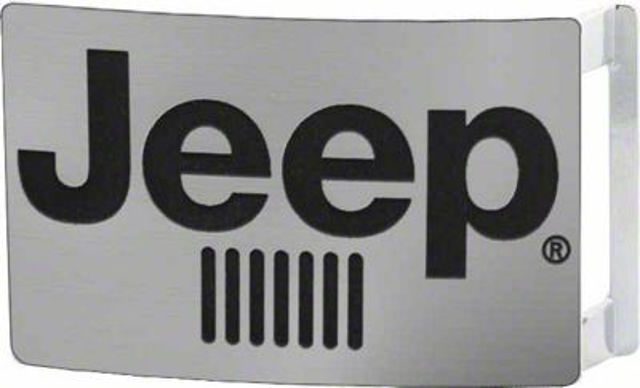 Jeep Logo Belt Buckle - Matte Silver