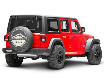 Mopar 32 in. Rubicon 4x4 Spare Tire Cover - Black (87-18 Jeep Wrangler YJ, TJ, JK & JL)