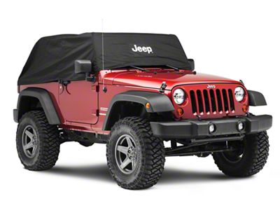 Mopar Cab Cover w/ Jeep Logo - Black (07-18 Jeep Wrangler JK 2 Door)