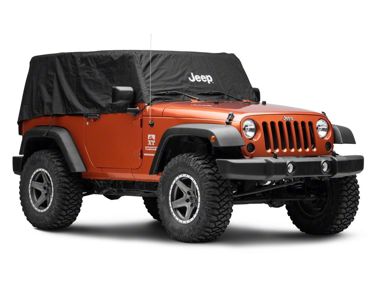 Mopar Cab Cover w/ Jeep Logo - Silver (07-18 Jeep Wrangler JK 2 Door)