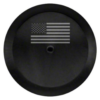 Mopar 32 in. American Flag Spare Tire Cover - Black (2018 Jeep Wrangler JL)