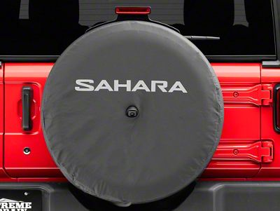 Mopar 32 in. Sahara Spare Tire Cover - Black (2018 Jeep Wrangler JL)