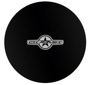 Mopar 32 in. Oscar Mike Spare Tire Cover - Black (87-18 Jeep Wrangler YJ, TJ, JK & JL)