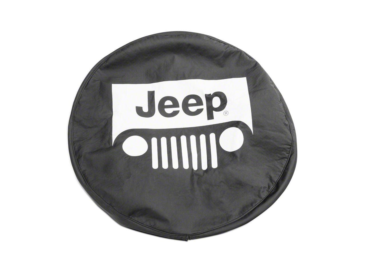 Mopar Jeep Wrangler Grille Logo Spare Tire Cover (87-19 Jeep Wrangler YJ, TJ, JK & JL)