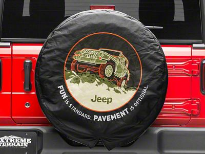 Mopar Pavement Optional Spare Tire Cover (87-18 Jeep Wrangler YJ, TJ, JK & JL)