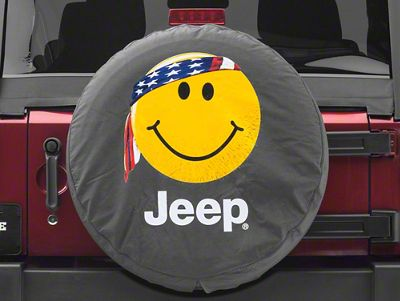 Mopar Smiley Face with Bandana Jeep Spare Tire Cover (87-18 Jeep Wrangler YJ, TJ, JK & JL)