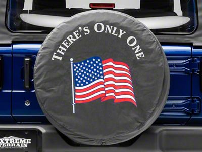 Mopar There's Only One American Flag Spare Tire Cover (87-18 Jeep Wrangler YJ, TJ, JK & JL)