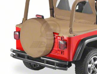 Bestop 29x9 in. Spare Tire Cover - Black Crush (87-18 Jeep Wrangler YJ, TJ, JK & JL)